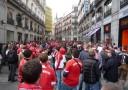 Bayernfans im Zentrum von Madrid